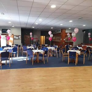 View The function room can hold up to 200 people.