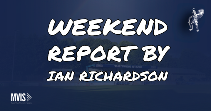 Weekend report by Ian Richardson - 3/11/19