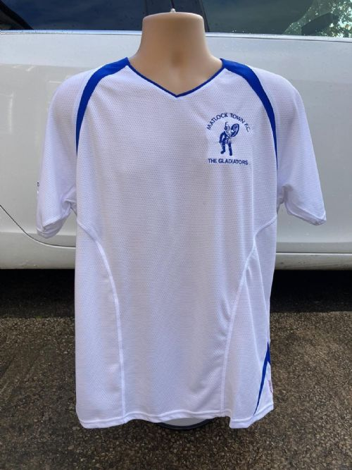 Cool fit - White and Royal Blue Training Shirt